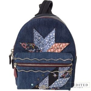NWT - COACH Charlie Star Patchwork Backpack